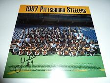 Pittsburgh Steelers JOSH MILLER autograph signed 1997 Tribune Review Team photo