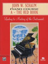 John w. schaum piano course a-le livre rouge apprendre à jouer débutant mode