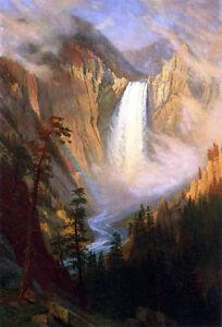 Yellowstone Falls  by Thomas Moran   Paper Print Repro