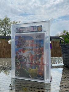 Super Smash Bros. Brawl 2008 Pal VGA 85+ Gold NM+ kein Wata Red Strip Sammler