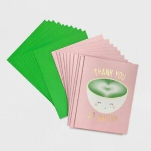 Target Paper Riot Co Thank You So Matcha Boxed Blank Card Set 10ct