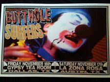 BUTTHOLE SURFERS 2001 POSTER Dallas/Austin shows mint cond OConner artist NICE!