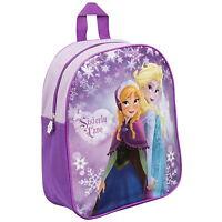 Official Frozen Anna & Elsa Love Disney Girls Kids Backpack Rucksack School Bag