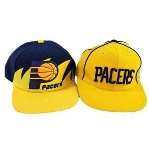 Indiana Pacers Sharktooth Snapback Hat Mitchell Ness Wool 7 1/4 Reebok Cap NBA