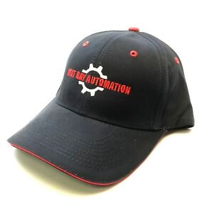 Next Day Automation Embroidered Logo Navy Blue & Red Hat Cotton*Limited Edition*