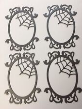 Spider web frame die cuts for cards or scrapbook 4 pieces