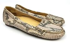 Cole Haan NikeAir Gray Snake Skin Shoe Slip On Loafers Driving Moccasin Size 6 B