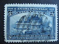 CANADA Quebec Tercentenary Sc 99 Used but has a wrinkle in corner, see pics