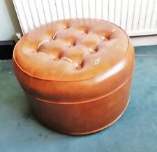 LARGE TAN COLOURED POUFFE SEAT OR FOOT REST