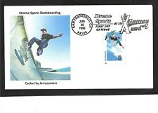 SKATEBOARDING XTREME SPORTS FDC 1999 SAN FRANCISCO, CALIFORNIA ONLY ONE MADE
