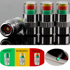 4pcs Car Auto Tire Pressure Monitor Valve Warning Cap Sensor Indicator Eye Alert