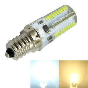 10x E12 C7 White/Warm 120V/220V 80-3014 SMD LED Silicone Bulb Chandelier Light