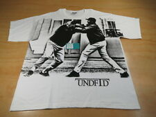 VINTAGE UNDEFEATED STREET FIGHT TEE SHIRT WHITE BLACK XL UNDFTD 5 STRIKES LOGO