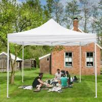 10x10' Commercial EZ Pop Up Canopy Waterproof Wedding Party Tent Outdoor Gazebo