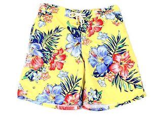 """Polo Ralph Lauren Mens Swimwear Yellow Medium M 8.5"""" Inch Kailua Trunks $79- 083"""