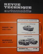 NEUF Revue technique VOLKSWAGEN VW GOLF 1 DIESEL SCIROCCO RTA 350 1975 + 404