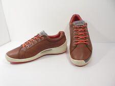 Sharp! Mens Yak Leather ECCO BIOM Lace-Up Shoes - Size EUR 46 US 12 - 12.5 M