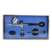 Dual Action Gravity Feed 0.3mm Airbrush Spray Gun Nail Art Paint Kit Tattoo Tool