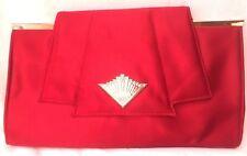 GHD Red Satin Purse Clutch Bag Heat Resistant Lining Hair Straightener