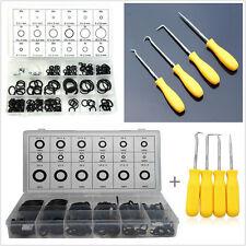 225 Pcs O-Ring Car Washer Seals Sealing Gasket & 4 Pcs Puller Remover Hook Tools