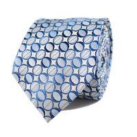 Silk Jacquard Blue Tonal Polka Dots Necktie 0902