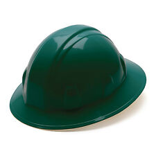 Pyramex Hard Hat Green FULL BRIM With 4 Point Ratchet Suspension, HP24135