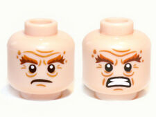 LEGO - Minifig, Head Bushy Brown Eyebrows, Wrinkles, Scowling / Rage Pattern