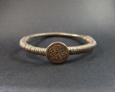 Archaic heavy silver Bedouin decorated bracelet 68 grams