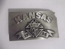 1986 Kansas Knights of Columbus William Oregon Belt Buckle Siskiyou 78 of 5000