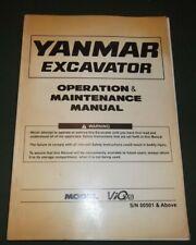 YANMAR ViO75 EXCAVATOR OPERATOR OPERATION & MAINTENANCE MANUAL BOOK S/N 00501-UP