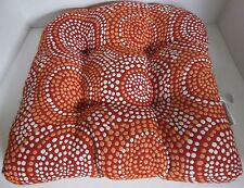 Pillow Perfect Mosaic Chair Seat Cushion Flame Red Orange square