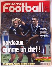 France Football du 22/09/1998; Bordeaux/ Arsenal/ Blanc et l'OM/ Nantes-Lorient