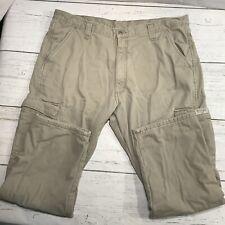 Wrangler Insulated Cargo Pants Men's 40x30 measures 40x29 Outdoor Camping Beige