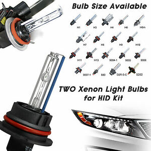 Two XENON HID KIT 's REPLACEMENT Light BULBS H1 H3 H4 H7 H10 H11 9006 9005 5202