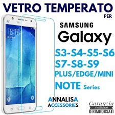 PELLICOLA VETRO TEMPERATO SAMSUNG GALAXY S3/S4/S5/S6/S7/S8/S9 PLUS/EDGE/NOTE