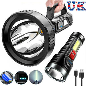 90000LM LED Super Bright Zoom Flashlight Powerful Camping Lamp Hiking Torch Lamp