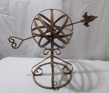 """Vintage 15"""" Iron Arrow Armillary Sphere Mexico"""