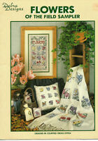 Flowers Of The Field Sampler Cross Stitch Pattern Leaflet Afghan Pillow Sachets