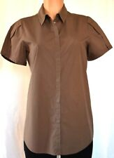 PIAZZA SEMPIONE BROWN SHORT SLEEVES COTTON  TOP SIZE 46