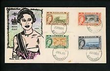 Postal History Bahamas #158//173 Overseas Mailer Hand Painted Royal Visit 1955