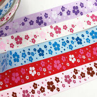 5Y 25mm printed flower grosgrain ribbon wedding party decoration DIY crafts