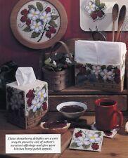 Strawberry Delights Tissue Magnet Napkin Holder Plastic Canvas Pattern Leaflet