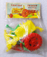 VINTAGE RARE Plastic Kit ✱ OLD FARM TRACTOR ✱ Altes Spielzeug Hong Kong 60´s