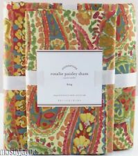 Pottery Barn - Rosalie Paisley King Duvet Cover & 2 King Shams - NWT Red