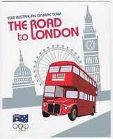 2012 AUSTRALIA STAMP PACK 'ROAD TO LONDON OLYMPICS' MINI SHEET OF 10 x 60c MNH