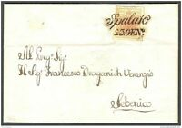 Austria, 1856, Dalmatia, Croatia, letter from Spalato (Split) to Sebenico