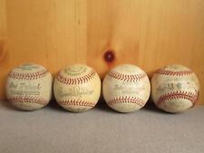 Vintage Group 4 Wilson Rawlings Hutch Baseballs Babe Ruth League/Brooks Robinson