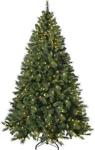 Pre-Lit Victorian Pine 5ft Multi-Function Christmas Tree 300 Warm LED Lights New