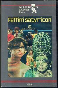 SATYRICON di Federico Fellini  (1969) VHS  Ricordi Video 1a Ed.