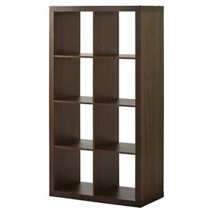 Better Homes & Gardens 8-Cube Storage Organizer, Vintage Walnut